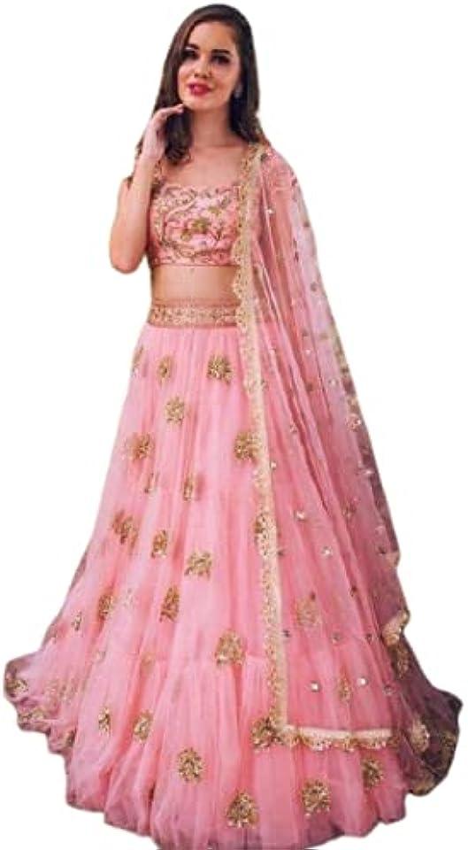 Pink Soft Net Lehenga Choli Designer Lehenga Choli Bollywood lahanga choli Net Lehenga Choli