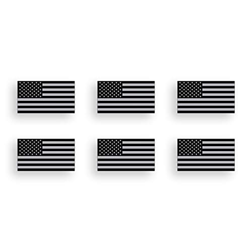 Mini Black and Gray USA Flag Sticker American Subdued Vinyl Decal Tag Car Truck Cup Window Graphic Plate
