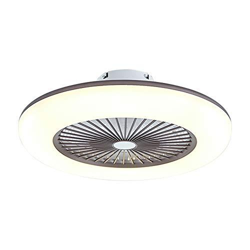 Deckenventilator mit Beleuchtung, leise unsichtbare Deckenventilator LED Licht, Dimmbar mit Fernbedienung, led Deckenlampe für Schlafzimmer Wohnzimmer Esszimmer (Kaffee)