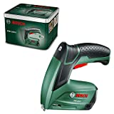 Bosch DIY Tools Bosch 0603968200 - Grapadora PTK 3,6 LI (batería integrada, 3,6 V, 30 pulsaciones/min, en caja metálica), multicolor