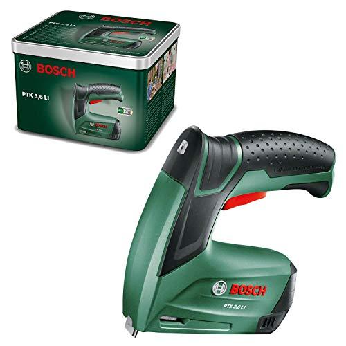 Bosch Home and Garden 0603968200 Agrafeuse sans Fil Bosch-PTK LI (Batterie intégrée, 3,6V, 30frappes/Min, dans Une boîte en métal), Multicolore