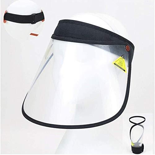 Z-H Anti druppeltje, transparant beschermmasker, bedekt je gezicht, vizier, draagbare outdoor hoed zwart