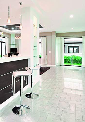 PVC Bodenbelag in glänzendem Fliesen- Design (9,95€/m²), Zuschnitt (2m breit, 4m lang)