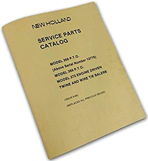 New Holland 268 269 P.T.O 272 Engine Twine Wire Tie Balers Parts Manual Catalog