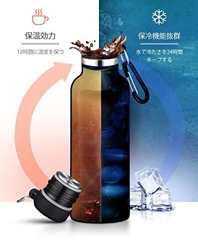 FEIJIAN水筒ステンレスボトル直飲み750ml真空二重構造保温保冷スポーツボトル漏れなし魔法瓶ウォーターボトルアウトドア登山おしゃれブルー