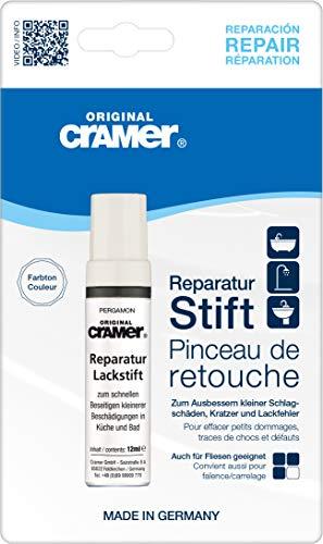 Cramer 15200DE Reparatur-Lackstift Email, Acryl, Keramik, pergamon - Sanitärlack zum Ausbessern kleinerer Schäden an Badewannen, Duschwannen, Waschbecken und Fliesen