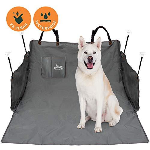 Kofferraumschutz von Simply Natural 185 x 105 cm wasserdichte Kofferraumdecke für Hunde und Haustiere mit verstellbaren, vielseitigen Verschlüssen für eine super sichere Auto Hundedecke