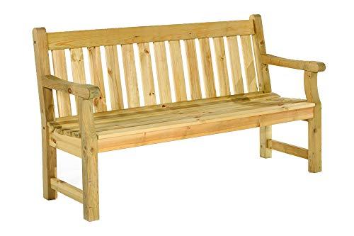 BrackenStyle Darwin Garden Bench - Scandinavian Pine Pub Seat - Dip Treated...