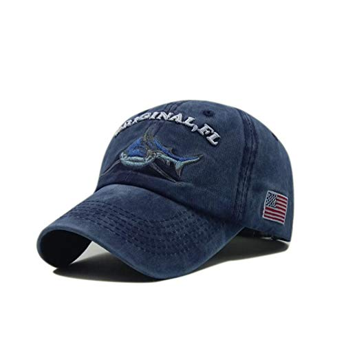 XibeiTrade Gorra de béisbol con diseño de tiburón bordado estilo polo de...