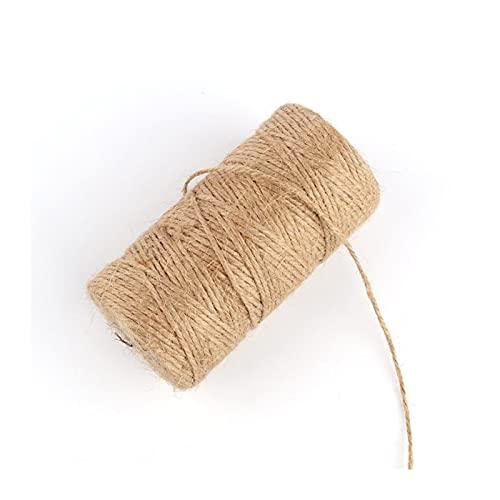 1Roll 50 / 100M Cuerda de cáñamo de Yute Decoración del hogar DIY Cordón de Manualidades Cuerda Decorativa 1/1.5/2/3/4 mm de diámetro Hecho a Mano (Color : 2mm 100m)