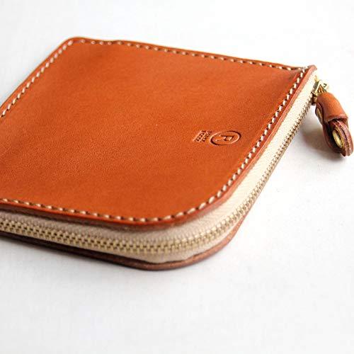 [PORCOROSSO]L字財布オリジナル栃木レザー日本製本革キャメル