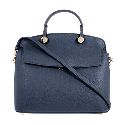 Furla Fall/Winter 2018 Ladies Small Navy Blue Leather Shoulder Bag 977728