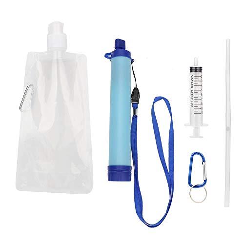 3pcs Outdoor Portable Filtre à eau Paille fibres creuses D/'urgence Survie Outil