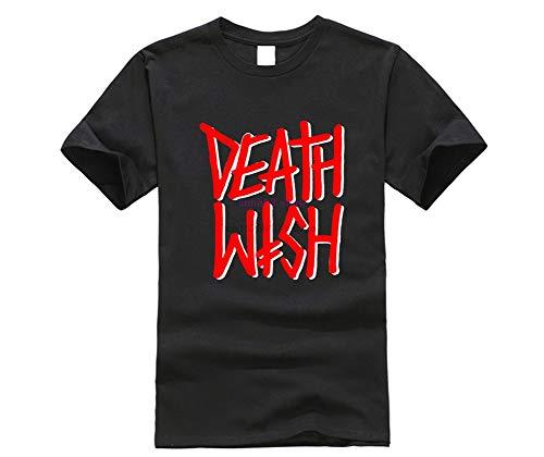 DEATHWISH Skateboards DEATHSTACK RED Black New T Shirt