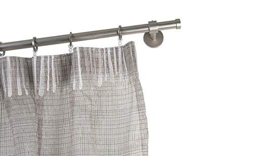 InCasa gordijnroede Ø 20 mm, lengte: 280 cm, geborsteld roestvrij staal - compleet