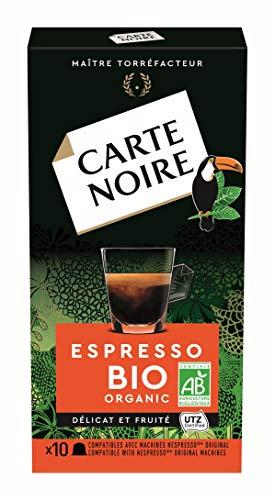 Carte Noire Café Expresso Bio Capsules Compatibles Nespresso, 10 Paquets de 10 capsules (100 Capsules)