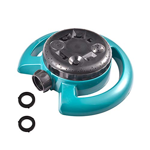 8-Pattern Sprinklers Circular Garden Sprinkler Gentle Water Output with No Leaks for Kids and Lawn Yard