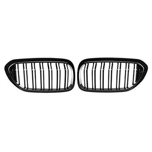 LHZBB Parrilla, 1 par para BMW G30 / G38 Serie 5 Parrilla Delantera Parrilla de riñón 2 Listones Negro Brillante Nuevos Accesorios de Estilo de automóvil sedán de 4 Puertas 2017-2020,: Negro Mate
