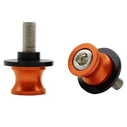 Universal CNC Aluminium Ständeraufnahme M10*1,25 Bobbins Montageständer für ZX6R ZX10R Z750 Z1000 Z1000SX ER6N ER6F Ninja 250 300 (Orange)