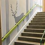 Antideslizante de madera maciza de seguridad de escalera Pasamanos, Hogar contra la pared interior Loft Kinder ancianos de niños Pasamanos Pasamanos Corredor de apoyo de Rod Pasamanos ( Size : 10ft )