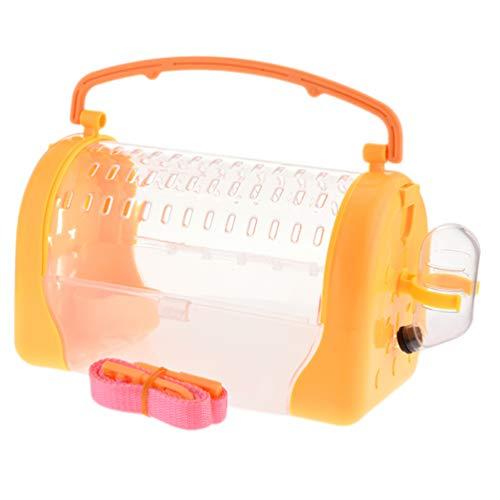 ULTECHNOVO Jaula para hámsters portátil jaula para hámster jaula con botella de agua bolsas para animales de compañía, transpirable, bolsas de viaje para conejo, chinchilla o ardilla