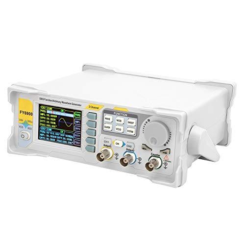 Fafeicy FY6900-60M Generador de señal digital, medidor de frecuencia de contador de plástico(EU Plug 220V)