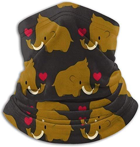 Kawaii Mammut Unisex Mikrofaser Halswärmer Kopfbedeckung Gesicht Schal Maske Für Winter Kaltwetter Maske Bandana Sturmhaube