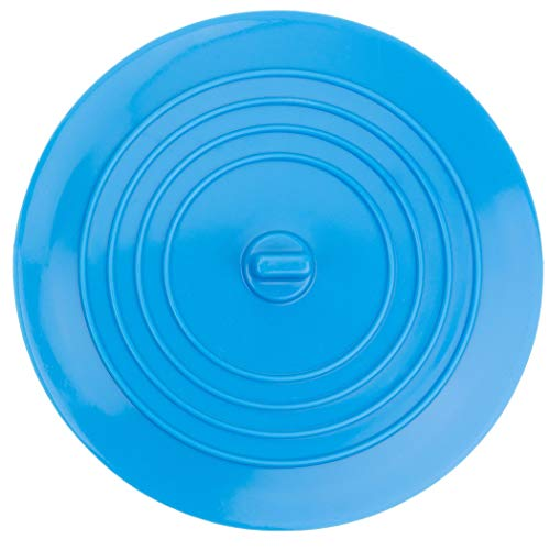 Bouchon de Vidange en Silicone pour Baignoire, Douche et évier de cuisine, Bouchon amovible, empêche l'eau de s'écouler, 15 cm de diamètre, pour trous de vidange jusqu'à 120 mm, Bleu