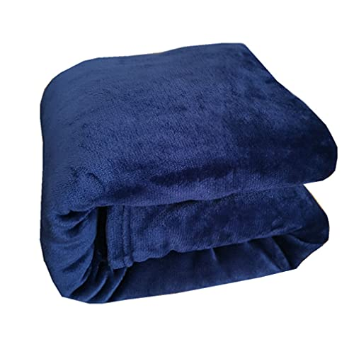 Soft Fleece Blanket Super Soft Cosy Bed Throws Blankets Fluffly Fleece Blanket for Bed Sheet Baby Blanket Sofa Cover (Navy Blue,70100cm)