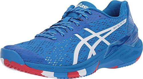 ASICS Women's Sky Elite FF Volleyball Shoes, 10M, Electric Blue/White