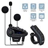 V8 5 Riders Helmet Intercom Systems with Advanced Noise Cancellation and Remote...