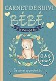 Carnet de Suivi Bébé à remplir 0 à 6 mois: un journal de bord parfait pour un suivi quotidien de votre bébé ( allaitement, sommeil, santé) - idéal pour les futures maman - Super idée cadeau