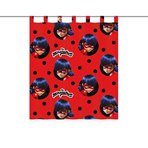 Miraculous Ladybug Gardine Vorhang Fertiggardine 140 x 160 cm