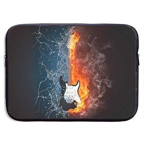 Funny Z Wasserdichte Laptop Hülle Wasser Feuer Gitarre Drucken Business Aktentasche Schutztasche Computer Fall Abdeckung 15×11.4 Zoll