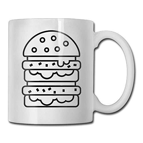 N\A Hamburguesa Vector Taza de café Divertida Taza de té de café Fresca Familiares y Amigos