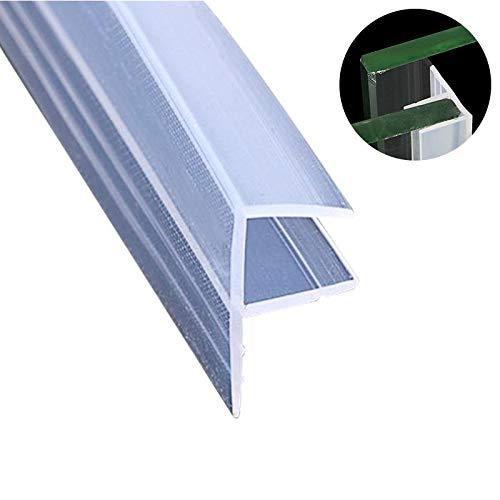 Tira de sellado para puerta de ducha de vidrio de 3 m,F-type sin marco, resistente a la intemperie, sellado para puerta, barrido flexible de silicona, bloqueo de ruido para ventanas de cristal
