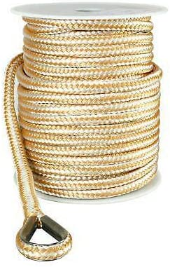 USR Rope sold out Nylon Double Braided Sale price Anchor Line Gold W x 200' and 5 8
