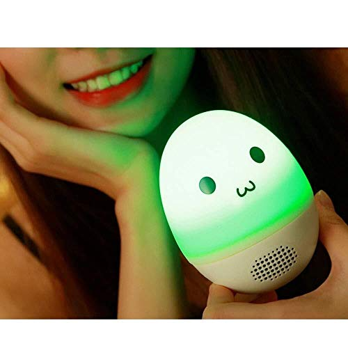Sebasty Tumbler Glowing Bluetooth Speaker Silicone Colorful Touch Light Lightweight Simple Night Light Home Regalo