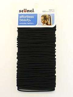 Scunci Black Metal Hair Elastics - 100 Pcs.