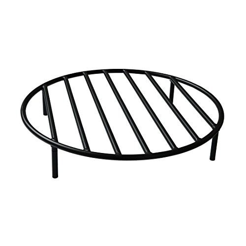 onlyfire Round Fire Pit Grate with 4 Legs for Outdoor Campfire Grill Cooking, 24 Inch