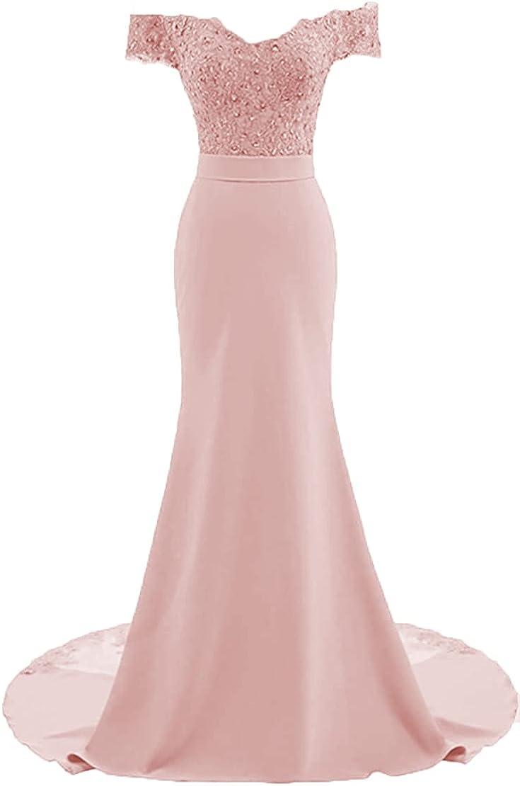 Dennis dress New products, world's highest quality popular! Women's Off Shoulder Bridesmaid Bea Mermaid Dresses Boston Mall