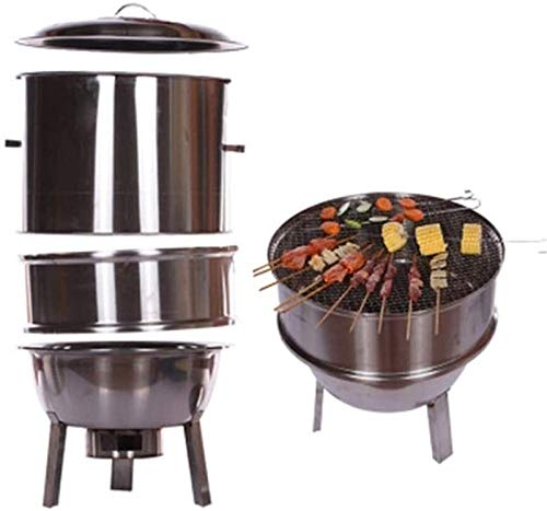 Lamyanran BBQ for Picnic Garden Terrace Camping Beach Simple Charcoal Grill Perfect Foldable Premium BBQ Grill Stainless Steel Thickening Portable Foldable Grill