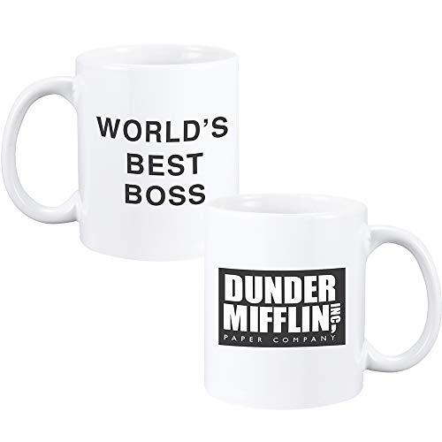 World's Best Boss Mug Dunder Mifflin Mug The Office Mug Double-Sided Mug...