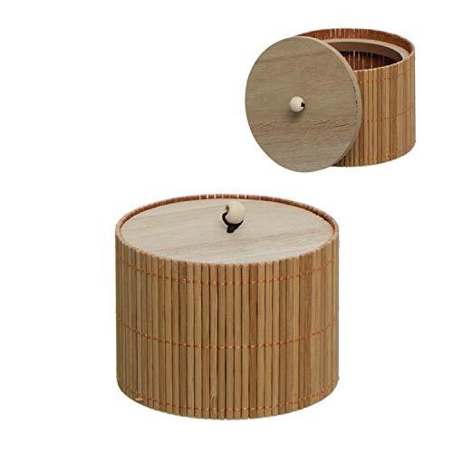 Vidal Regalos Caja Decorativa Bambu Redonda 10 cm
