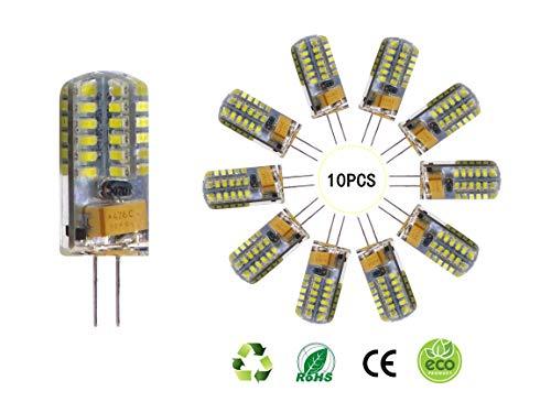 SidiOutil G4 LED Glühbirnen 6000K Weiß Beleuchtung Dimmbar Landschaft LED Birne 3W Entspricht 30W T3 Halogen Schienenbirnen Ersatz G4 Bi-Pin Sockellampe (10 Stk.)