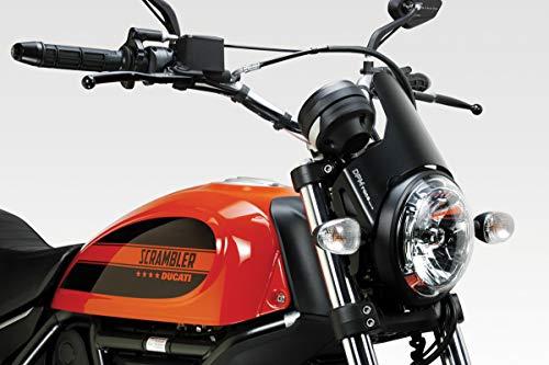 Ducati Scrambler 400 - Kit Carenabris 'DarkLight' (D-0200) - Parabrisas Lunas Cúpula de Aluminio - Fácil Instalación - Accesorios De Pretto Moto (DPM Race) - 100% Made in Italy