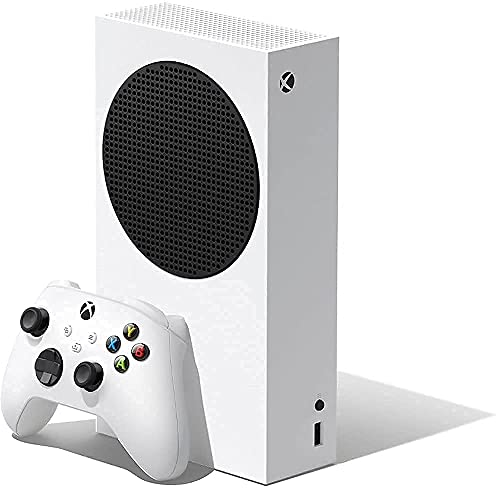 Microsoft Series S 512 GB All-Digital Console (Disc-free Gaming) With HDMI Cable Controller Bundle | White | Include:Xbox Wireless Controller - Robot White, Xbox Series S console