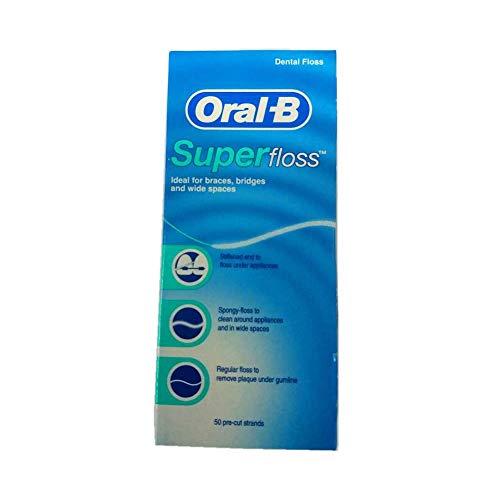 Oral B Hebras Pre-Cortadas Superfloss (50) (Paquete de 2)