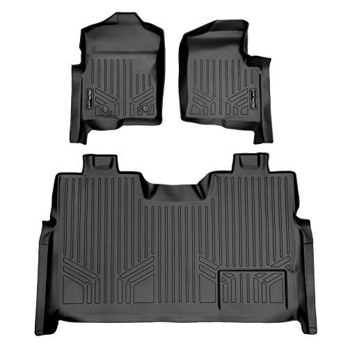 SMARTLINER Custom Fit Floor Mats 2 Row Liner Set Black for 2011-2014 Ford F-150 SuperCrew Cab
