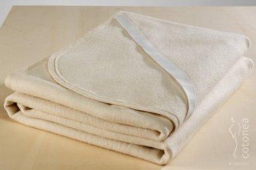 Cotonea Matrazenschutzauflage mit Eckgummis 70x140, Weiss, Bio Baumwolle